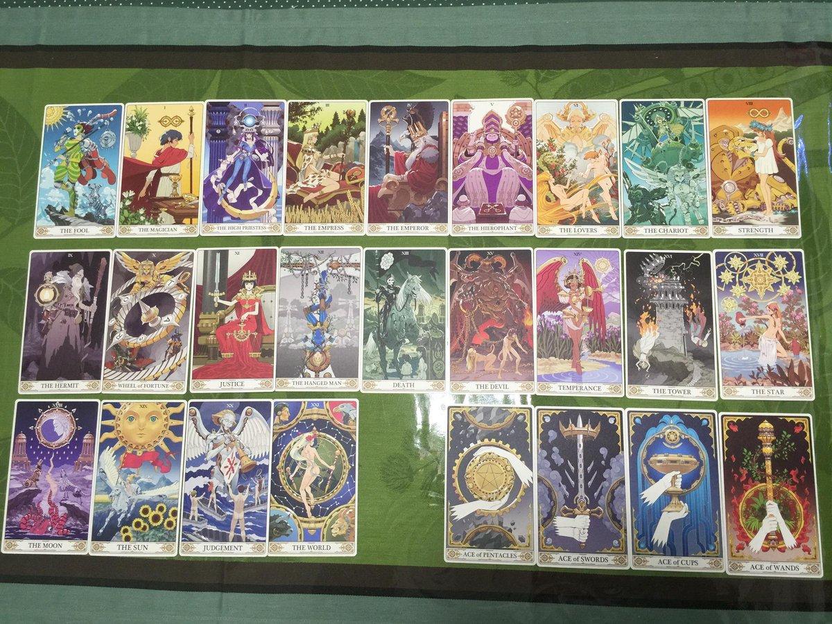 去年描いたノブナガ・ザ・フールのタロットカード。BDパッケジに入っていました。Tarot cards I drew la