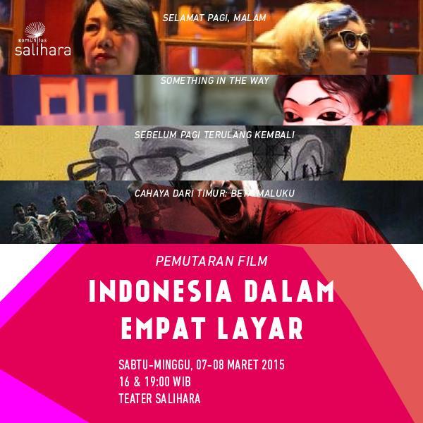 Komunitas @salihara akan memutar 4 #FilmNasional yang menyoal kembali keindonesiaan. http://t.co/etlk4AUBHT