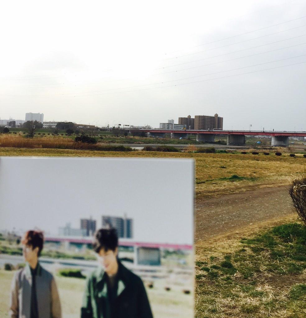 東方神起  サクラミチ ロケ地 :  多摩川  徒歩で来たㅋㅋㅋㅋㅋㅋ http://t.co/PQO03gwQhv