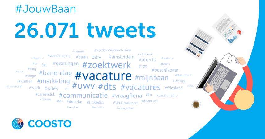 #JouwBaan van @TwitterNL een groot succes! M.n. #UWV veelbesproken. Dit zijn de stats van vandaag #vacature http://t.co/SMSEq6vqLF