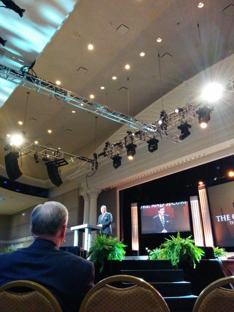 """""""The more the church departs from the faith, the more Islam will expand."""" @MichaelAYoussef speaking now at #NRB15. http://t.co/bUptt0QNbs"""