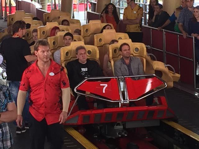 Another of @IAmJericho from #Sharknado3 Orlando -looks like he's gone from wrestling to working a roller coaster http://t.co/dxfubYeE4w