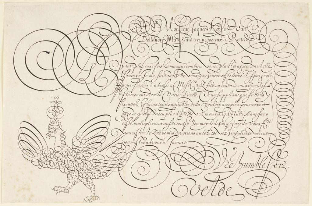 Master Dutch calligrapher Jan van de Velde's copybook from 1605 was celebrated for its flourishes. #TypographyTuesday http://t.co/V1MAPqgE6g