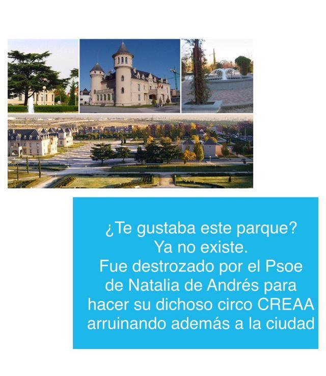 Te gustaba el parque de los Castillos en #Alcorcón ? sabes que el @psoe lo destrozó? @ppalcorcon http://t.co/9lROI48cEr