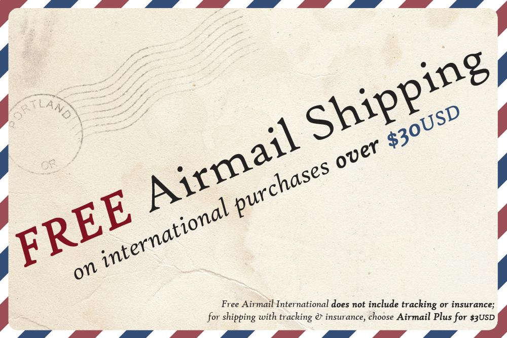 This is really exciting: We're offering FREE Airmail to all qualifying International orders! http://t.co/qWtPCbVoNu http://t.co/kz6XWHNEaO