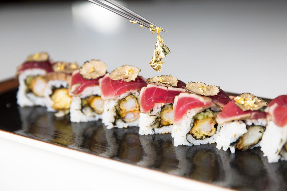 Inspired by @FOXTV's hit show @EmpireFOX this weeks #RollOfTheWeek is the #EMPIREroll complete with real gold flakes! http://t.co/M8PBblKbqV