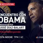 """RT @TelemundoNews: Esta noche @telemundo te presenta el """"Encuentro con Obama"""". Envía tus preguntas al hashtag => #ObamaResponde"""