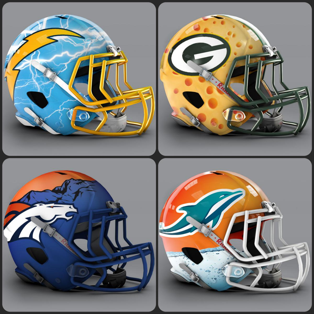 another nfl fan has designed unofficial helmets for all 32