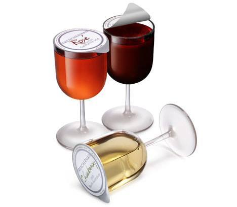 I doubt these are good, but they're interesting: single-serving, recyclable, wine by the glass. #wine #winechat http://t.co/gsIDmO0yzp