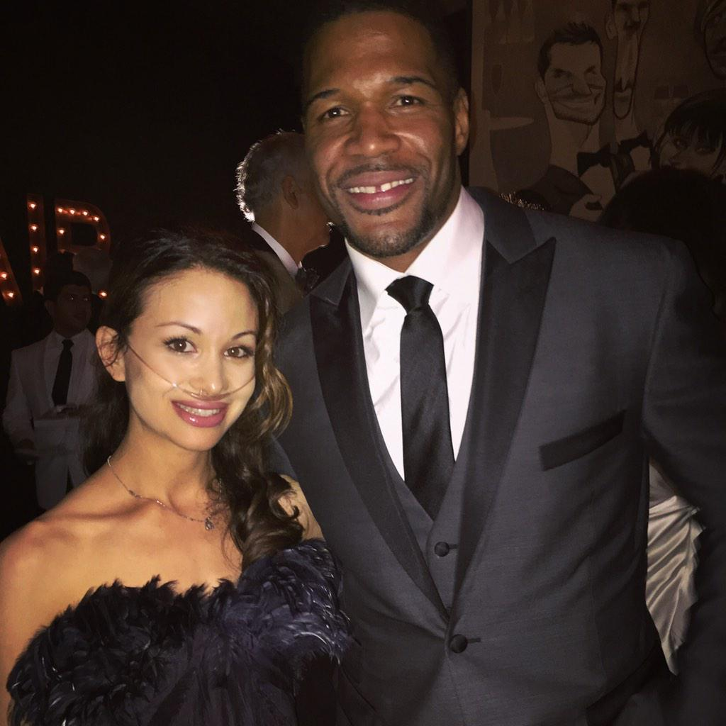 Great to meet Michael Strahan, host of Live With Kelly And Michael - #oscars2015 @michaelstrahan http://t.co/VZy5AjcvLv