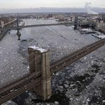 Love this pic of the frozen Hudson. #Manhattan