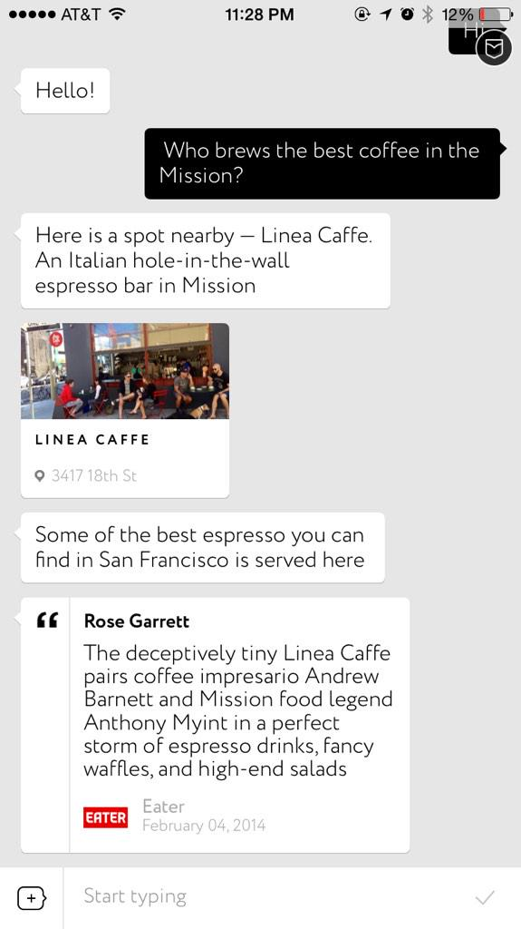 "Emerging trend: the ""conversational UI"" http://t.co/NgTZm64pWA"