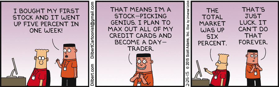 The investment advice just keeps coming from Dilbert & co, offering another gem. $$ http://t.co/4TKrCKmpWE