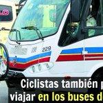 Nuevos buses de Bellanita cuentan con una plataforma especial para sostener 3 bicicletas http://t.co/l6nXzv7JXR http://t.co/wE5ppVntQT