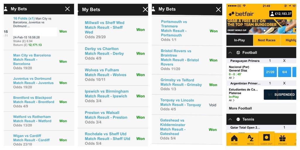 ¡Un usuario nos desplumó ayer con ayuda del Barça! Ganó 12.171£ con una combi de 16 partidos http://t.co/MFwqRGTxHS http://t.co/5GJ7wkktxk
