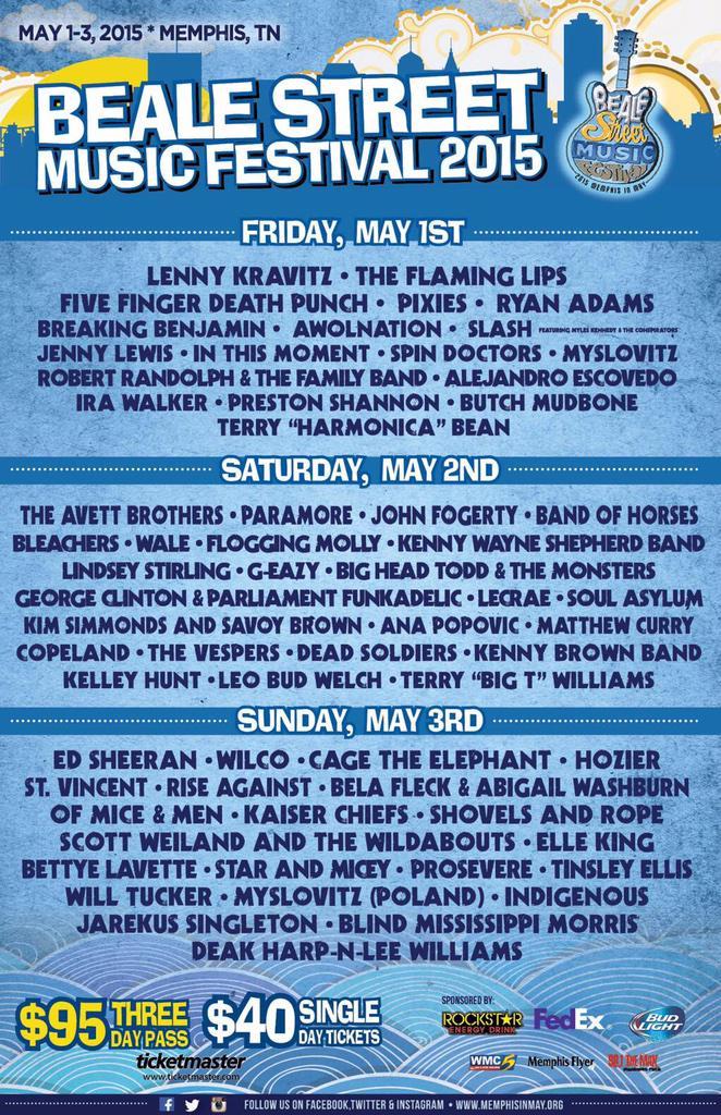 Good lookin' lineup for @BealeStMusicFes in Memphis! @Wilco + @theavettbros + @TheRyanAdams + @belafleckbanjo http://t.co/UO9A3wJxwg