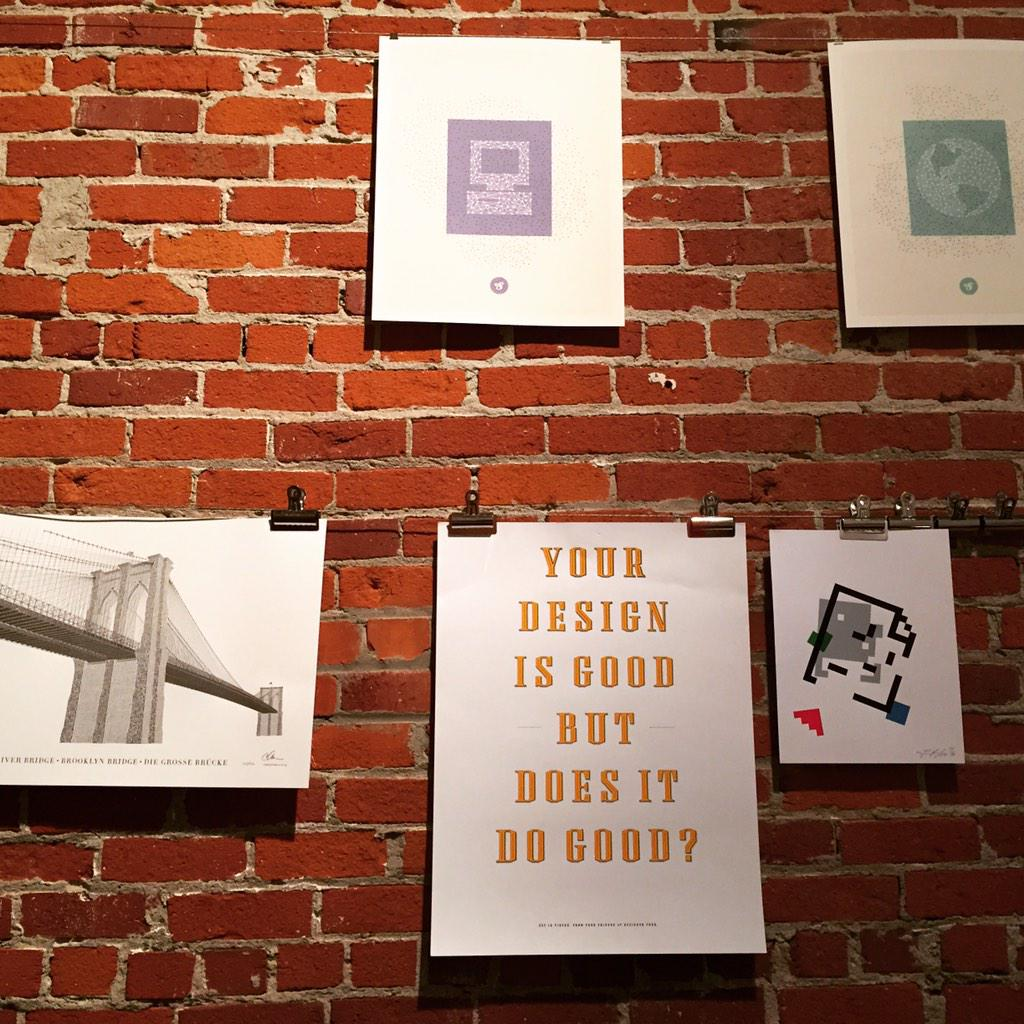 Your design is good but does it do good? A good Q at the @designerfund office. http://t.co/TDVbrrOuMs