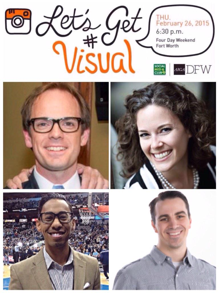 "Meet our ""Let's Get Visual"" panel.  Hope to see your tomorrow night at 6:30pm at @FDWOfficial! http://t.co/CsMyeFX87f http://t.co/sswdXqCpS6"