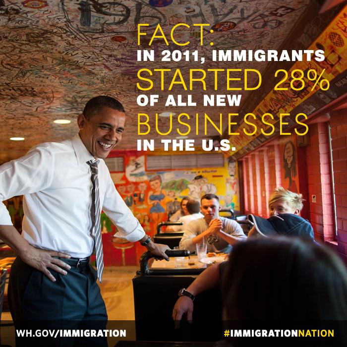 """The founders of @Intel and @Google and so many of our iconic companies...were immigrants."" —Obama #ObamaTownHall http://t.co/iZsIqSP7MN"