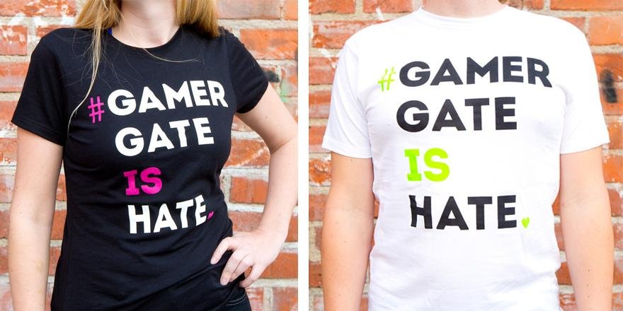 Behold, #GamerGateIsHate shirts! Proceeds will benefit a charity that supports women in games. http://t.co/R2azqjCQsO http://t.co/h1GHOuGn5m