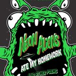 It's here! Pick up a copy of Neon Aliens Ate My Homework and Other Poems from @scholastic NOW.