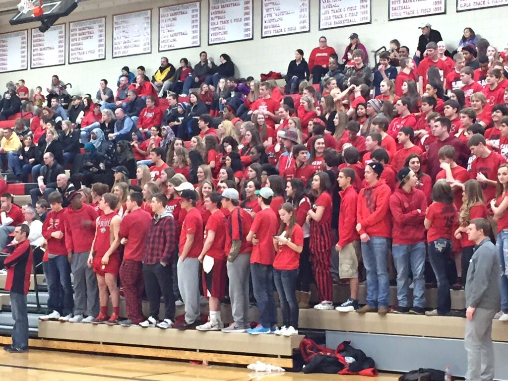 RT @ToddAbeln: Red night for Shakopee fans http://t.co/qhn9BscO24