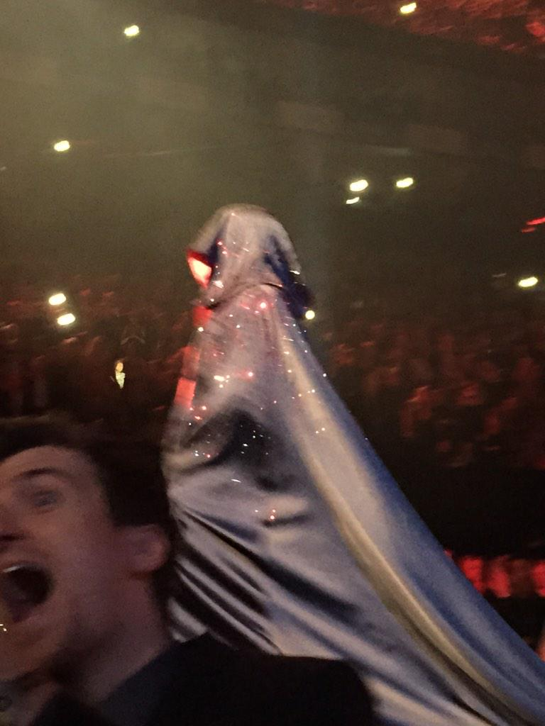 Madonna was nearly a magonna. What a trouper. Here's @gregjames screaming cos he can see the future. http://t.co/N1ytvt3wYr