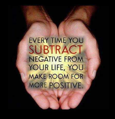 #Maine Every time you subtract Negative in your life, you make more room for positive! #ME