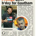 RT @KollywudCinema: A Temple Tour for @Premgiamaren | Quiet birthday for @menongautham - DC