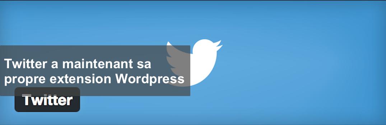 #Twitter a maintenant sa propre extension #Wordpress http://t.co/T3UY0EPGha http://t.co/TLaSOeOXzi
