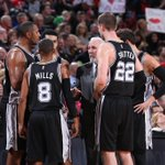 Spurs' slide continues. San Antonio falls to Portland, 111-95, and defending champs are 0-4 since All-Star break.