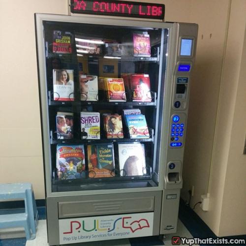 آلة لبيع الكتب بدلاً من الوجبات السريعة والحلويات. http://t.co/kYIcyWwb8Y