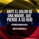 La indignación es absoluta. El clamor es general: bajen sus armas! #YoNoSoyIndiferente #ArtistasPorVzla http://t.co/oqXOpz4kAC