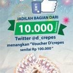 """@LinggaErsan yuk follow @d_crepes dan jadilah bagian dari 10rb followers,, menangkan voucher senilai 100.000 :D http://t.co/rAuSjaXNRB *72"