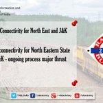 पूर्वोत्तर राज्यों और जम्मू-कश्मीर से बेहतर रेल कनेक्टिविटी: श्री @sureshpprabhu  #RailBudget2015 #रेलबजट http://t.co/L2UWhJTPZt