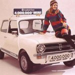 #ThrowbackThursday: #HelpsCharlie Miss Great Britain 1975 poses with the #Mini. #ThrowbackThursday http://t.co/NRR5iw9bPE