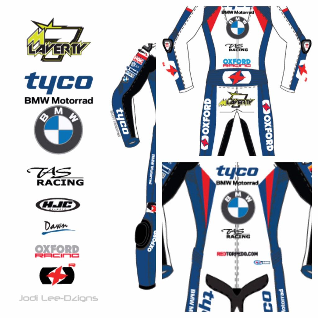 I'm almost there with getting MLavs 2015 kit designed & ready #leathers #helmets #logos Preview of @TycoBMW leathers http://t.co/am1HniOqbv
