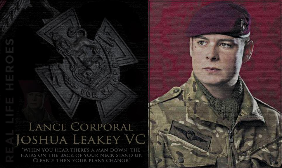 LEGEND: Well done Lance Corporal Joshua Leakey of the Parachute Regiment on his award of the Victoria Cross http://t.co/zJht1Hljwm