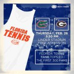.@UF students! Cheer on @GatorZoneMTN today at 5:30pm as they take on #7 Georgia! First 300 fans get this sweet tank! http://t.co/FNOmgrFVbc