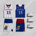 """FIRST LOOK: Kansas """"March Madness"""" uniforms from Adidas http://t.co/ua64BIC73S"""