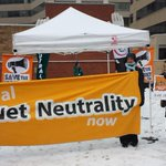 Its snowing in DC but protest groups like @fightfortheftr are outside the #FCC pressing for #NetNeutrality. http://t.co/6GoNLNuTEf