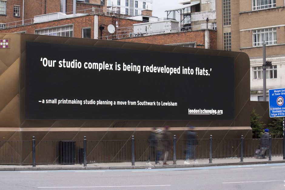 London is changing, http://t.co/t0fogUGWjx http://t.co/8Ry19Zyem5 Rebecca Ross's billboard project (via @ericfheiman) http://t.co/TWnMjQNT0b