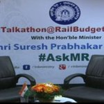 Stage set for #Talkathon with Shri @sureshpprabhu on #RailBudget2015 @RailMinIndia http://t.co/hCf3mSn867