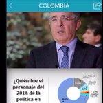 Santos no soporta la popularidad de Uribe. Colombianos lo escogieron como personaje del año. Uribe no está sólo! http://t.co/AYateRa3ev