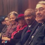 Front and center at Lynch hearing w @RepMarciaFudge @RepAdams Reverend Lynch and @GKButterfield #ConfirmLynch http://t.co/0WSPJ40UdD