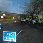Cork-Monahan Road closed at junction with Link Road. Fire at old Showgrounds, asbestos risk. Avoid area if possible http://t.co/Kw5lPriZkh