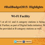 Some Highlights of the #RailwayBudget2015 important for peoples perspective:4/6 http://t.co/WCMTwbRkcY