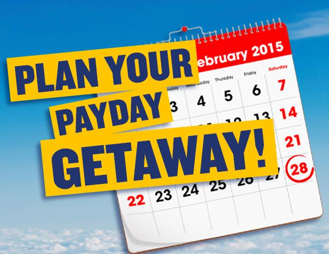 Spotted a great fare to one of your favourite destinations? It's pay-day weekend, so go on!