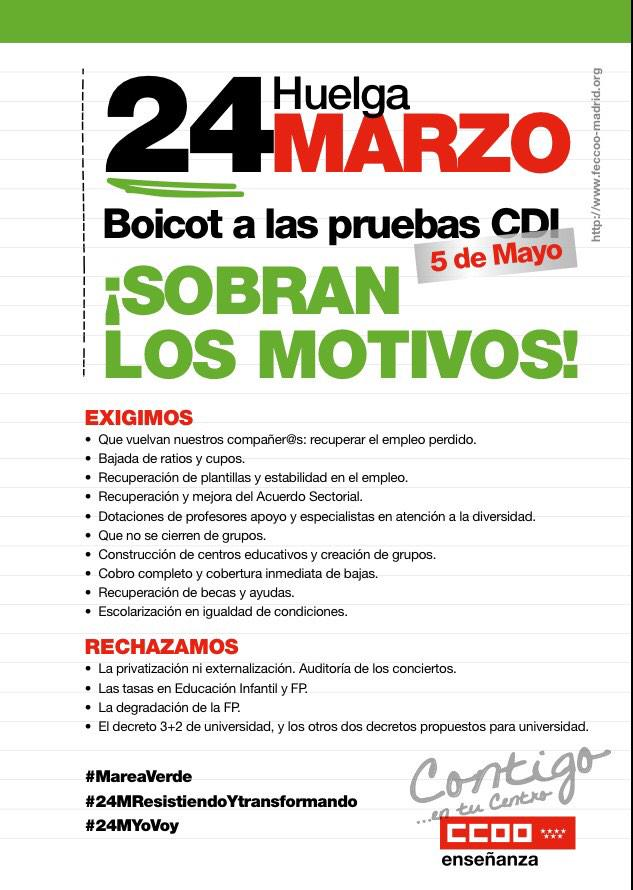 Ense anza madrid ccoo frem klear for Ccoo ensenanza madrid
