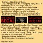 .@mazNOT: Jgn tunggu Kejadian baru bergerak Antisipasi Gejala dg #ProAktif Kita #PERANG_MELAWAN_BEGAL @ridwankamil http://t.co/r0QNMGll3i
